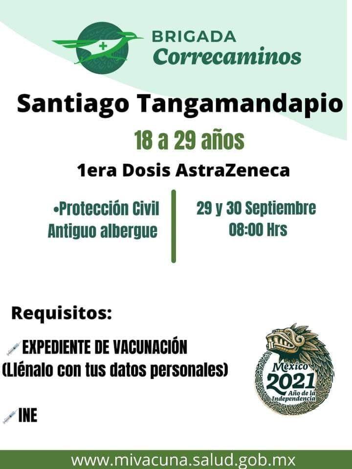 1era. Dosis. De vacunación del laboratorio AstraZeneca.